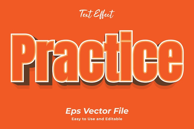 Teksteffect oefenen eenvoudig te gebruiken en te bewerken van hoge kwaliteit vector