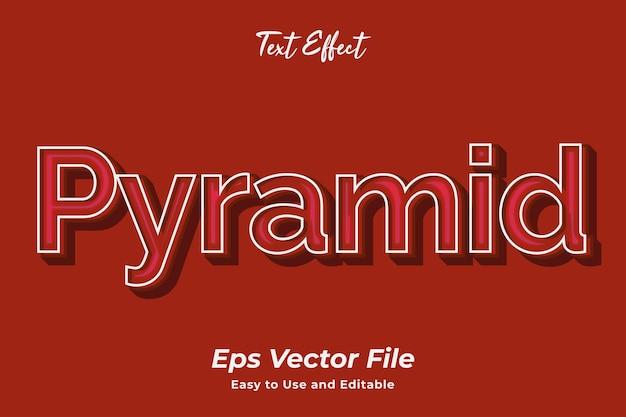 Teksteffect piramide eenvoudig te gebruiken en te bewerken vector van hoge kwaliteit