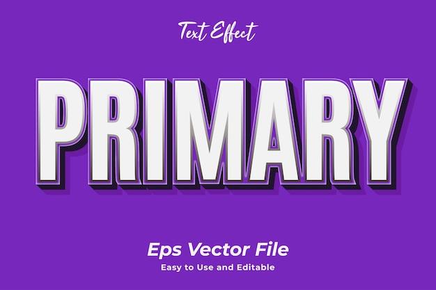 Teksteffect primair bewerkbaar en gebruiksvriendelijk premium vector