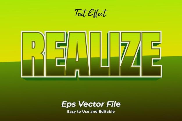 Teksteffect realiseer bewerkbare en gebruiksvriendelijke premium vector