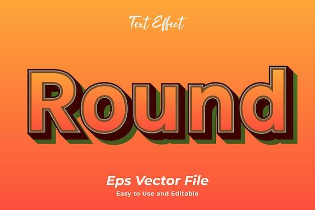 Teksteffect rond bewerkbaar en gebruiksvriendelijk premium vector