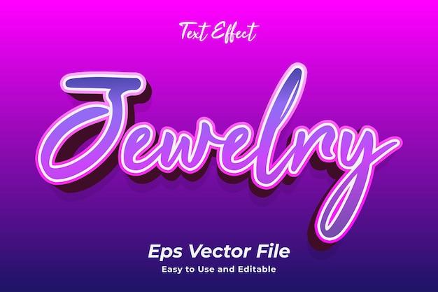 Teksteffect sieraden bewerkbaar en gebruiksvriendelijk premium vector