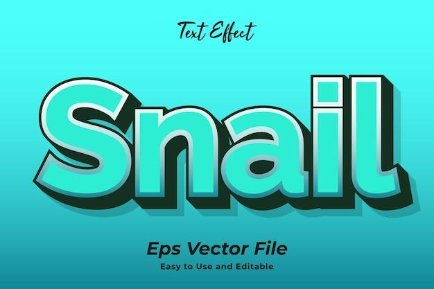 Teksteffect slak bewerkbaar en gebruiksvriendelijk premium vector