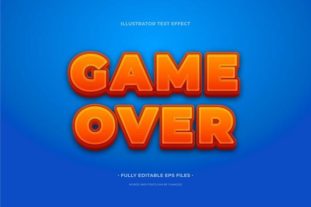 Teksteffect spel voorbij