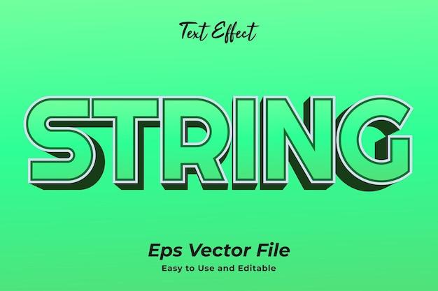 Teksteffect string bewerkbare en gebruiksvriendelijke premium vector