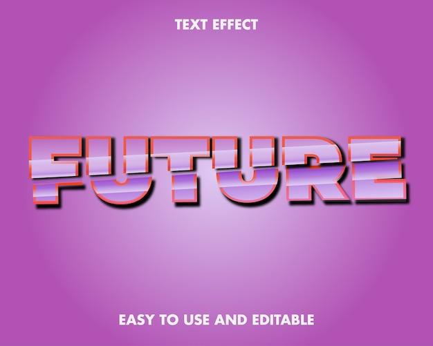 Teksteffect toekomst. bewerkbare lettertypestijl.