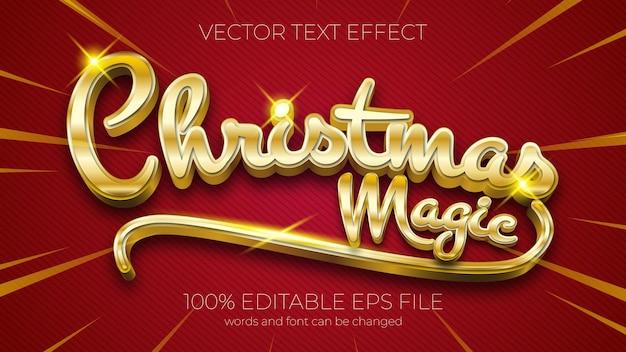 Teksteffect van kerst magische vectorillustratie