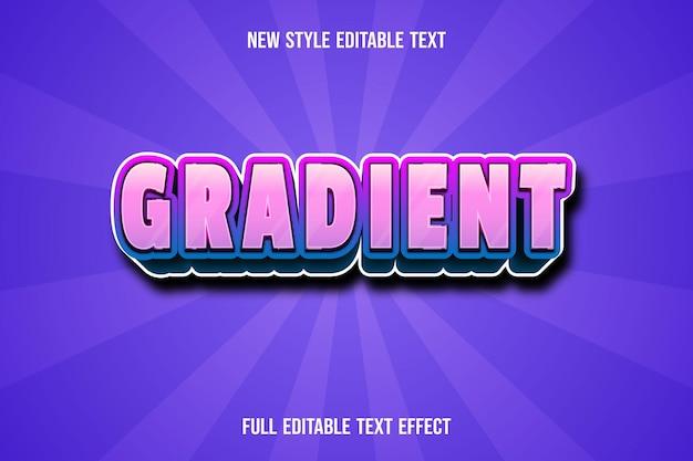 Teksteffect verloop op blauw en roze verloop