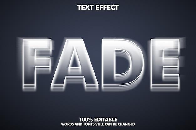 Teksteffect vervagen, bewerkbaar lettertype