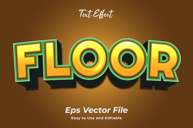 Teksteffect vloer bewerkbaar en gebruiksvriendelijk premium vector