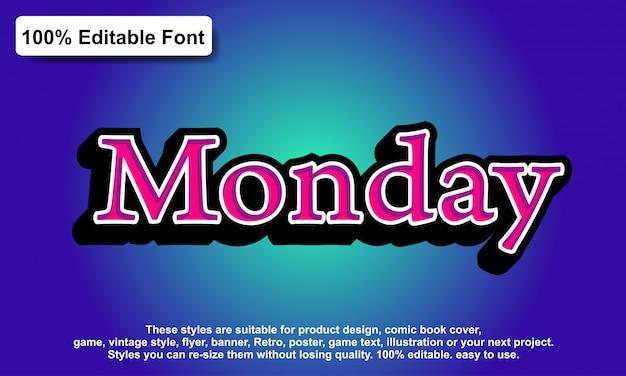 Teksteffect voor cool futuristisch effect, bewerkbare tekst