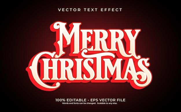 Teksteffect vrolijk kerstfeest