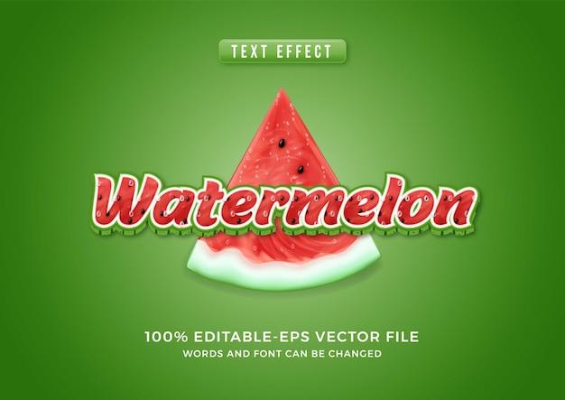 Teksteffect watermeloen thema