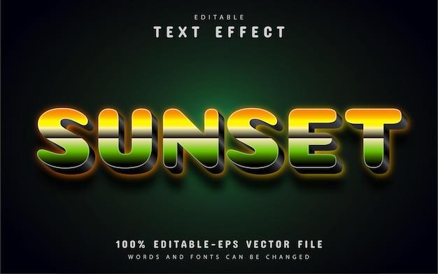 Teksteffect zonsondergang met verloop