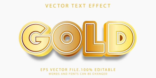 Teksteffecten goud