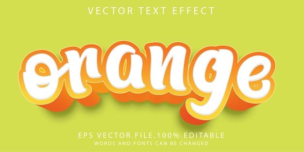 Teksteffecten oranje