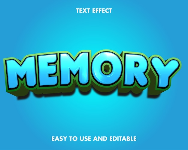 Teksteffectgeheugen. bewerkbare lettertypestijl.