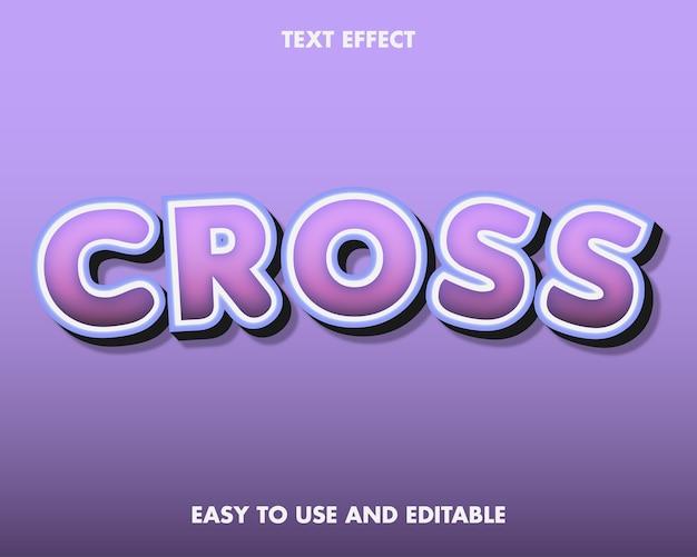 Teksteffectkruis. bewerkbare lettertypestijl.