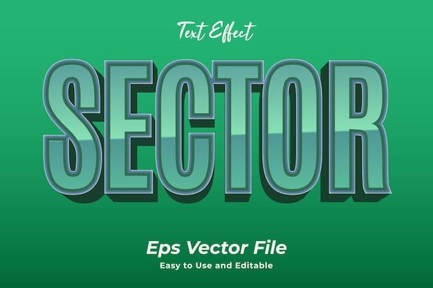 Teksteffectsector eenvoudig te gebruiken en te bewerken van hoge kwaliteit vector