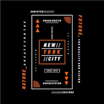Tekstkader het grafische ontwerp van de stad van new york