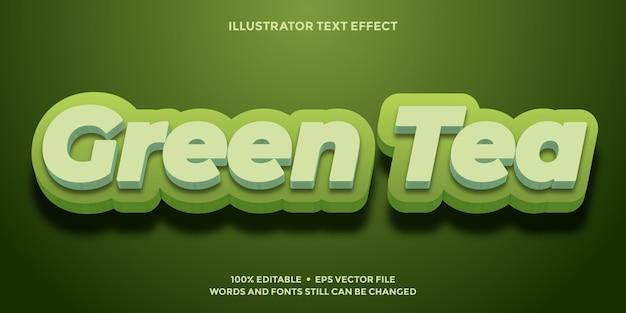 Tekstontwerp met groene thee