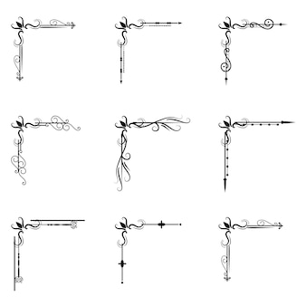 Tekstscheider decoratice scheidingslijn typografie ornament design elementen vintage scheidingsvormen grens illustratie