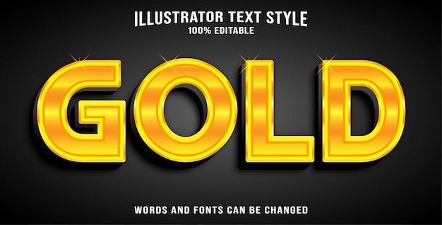 Tekststijl effect goud