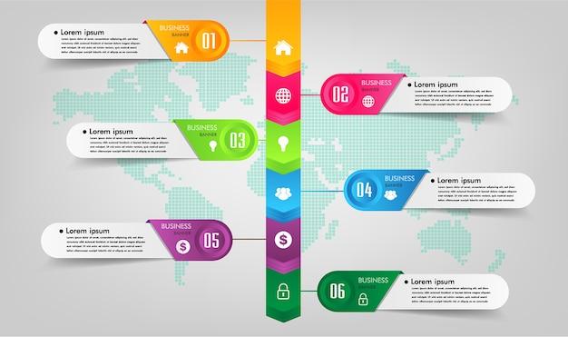 Tekstvak sjabloon, banner infographics, tijdlijn