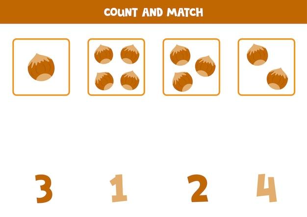 Tel alle noten en verbind met de juiste nummers. educatief rekenspel voor kinderen.