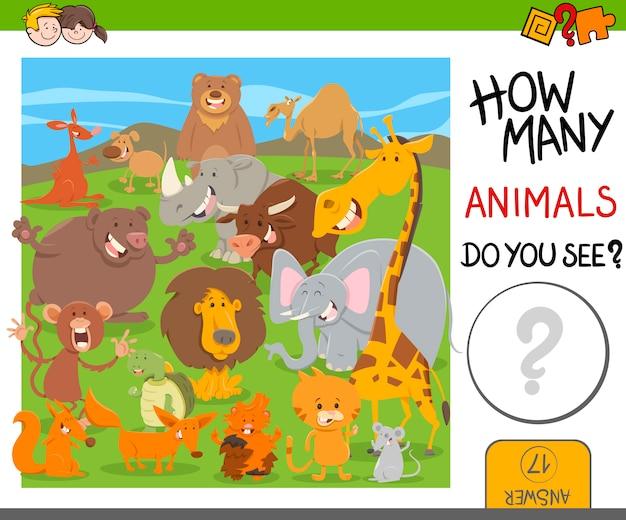 Tel dieren spel voor kinderen