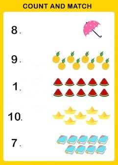Tel en match illustratie