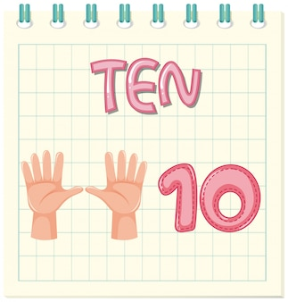Tel nummer tien werkblad