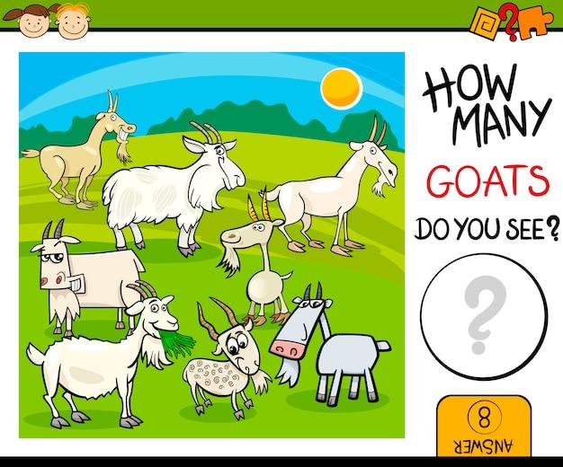 Tel taak met geiten cartoon