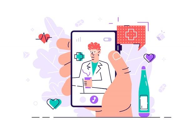 Tele geneeskunde concept