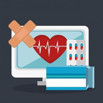 Tele geneeskunde online met desktop