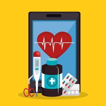 Tele geneeskunde online met smartphone