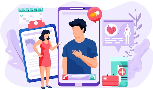 Telefonisch videogesprek met de dokter via de applicatie op de smartphone