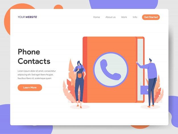 Telefoon contacten illustratie