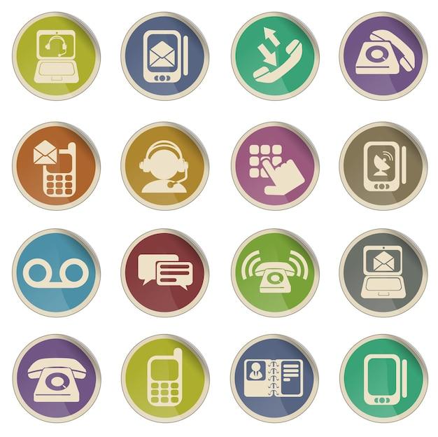 Telefoon gewoon symbool voor webpictogrammen
