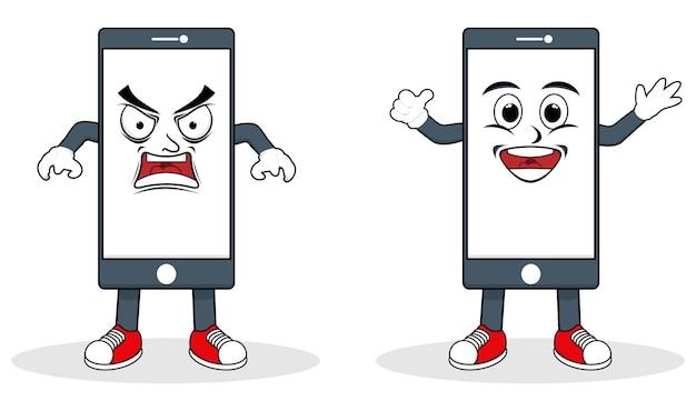 Telefoon karakter logo