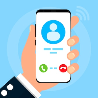 Telefoon met een oproep