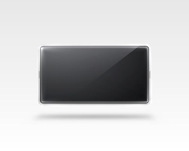 Telefoon met een zwart scherm, object elektronica geïsoleerd op wit.