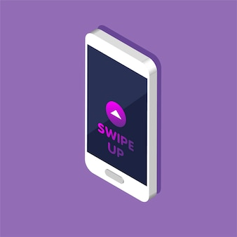 Telefoon met sneltoets voor sociale media op een scherm, reclame en marketing in verschillende apps.