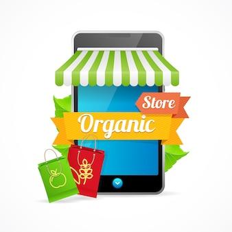 Telefoon mobiele winkel online. biologische eco-producten.