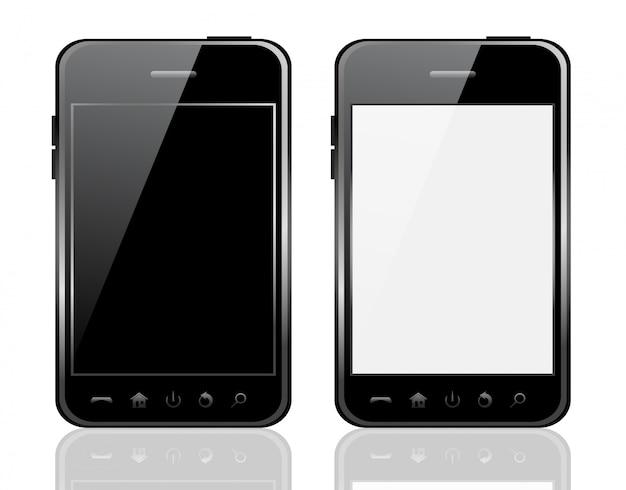 Telefoon op witte achtergrond