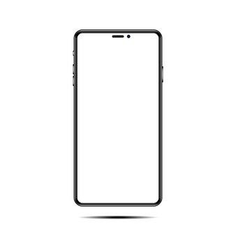 Telefoon realistisch vooraanzicht, smartphone geïsoleerd