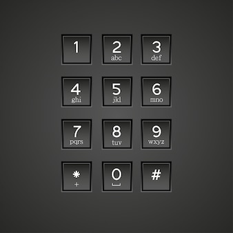 Telefoon toetsenbord achtergrond.
