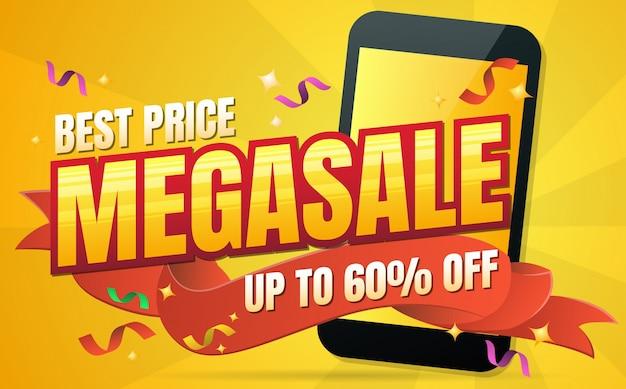Telefoon verkoop vector achtergrond voor banner, poster, flyer