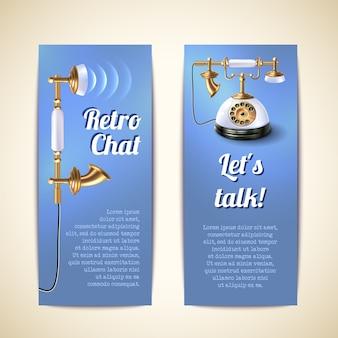 Telefoonbanners verticaal