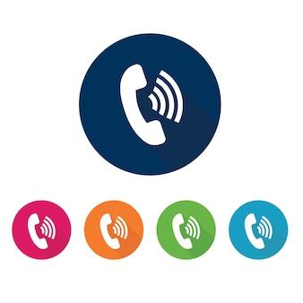 Telefoongesprek pictogram.